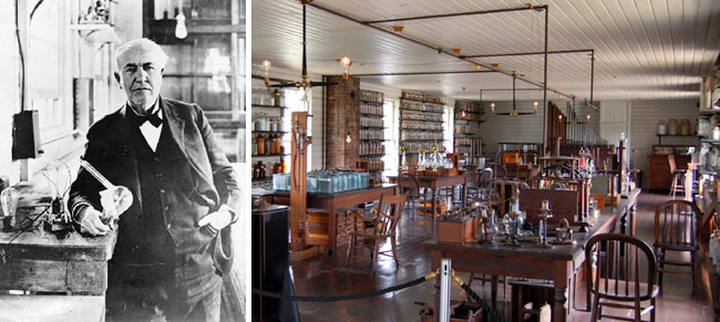 Thomas Edison and his Menlo Park Laboratory